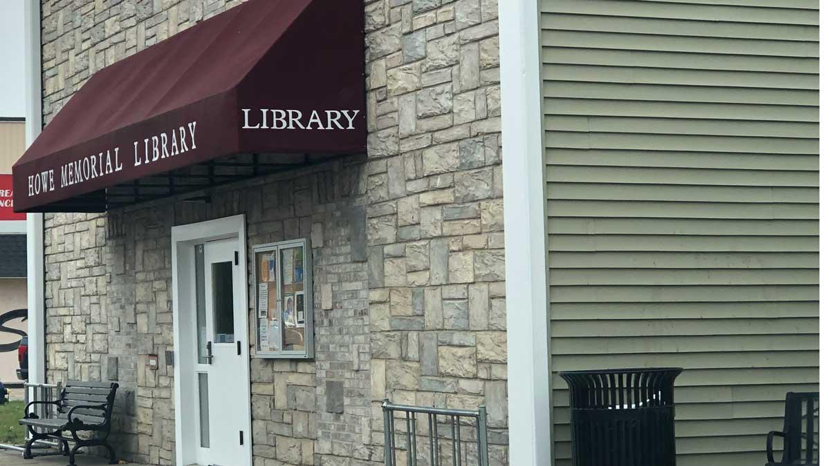 Image of Howe Memorial Library in Breckenridge Michigan