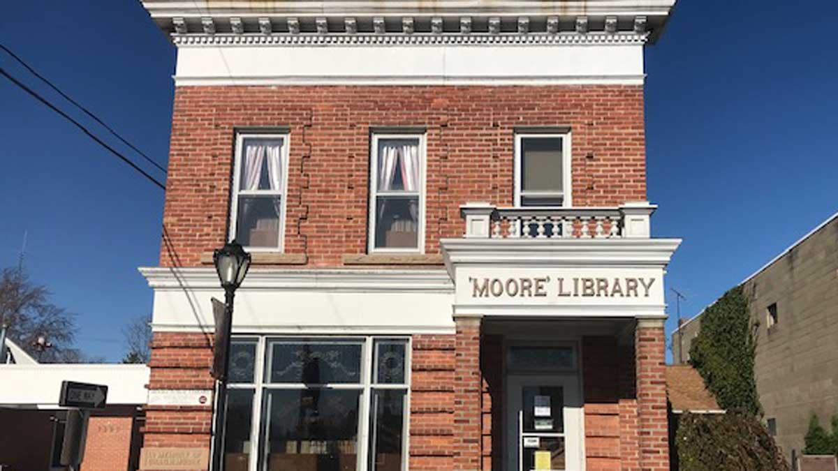 Image of Moore Public Library in Lexington Michigan