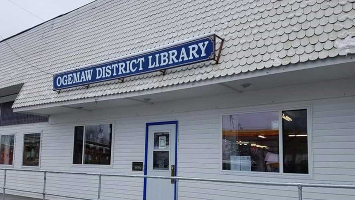 Image of Ogemaw District Library on Rose City Michigan