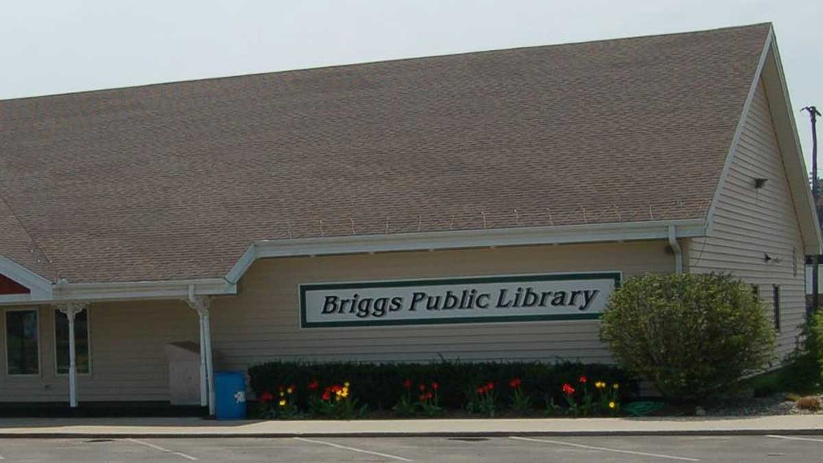 Image of Briggs District Library in St. Johns Michigan